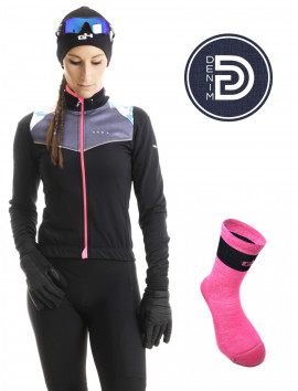 Bundle Denim Women\'s winter Cycling Kit
