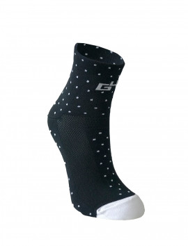 WOMAN DOTS BLACK SOCKS