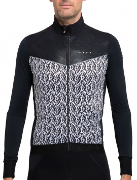 LONGSLEEVES WINDPROOF JERSEY BLACK WHITE CONTRAST MAN