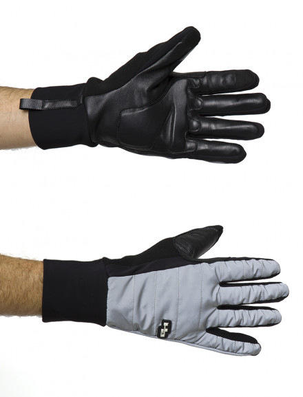 REFLECTIVE WINTER LEATHER GLOVES