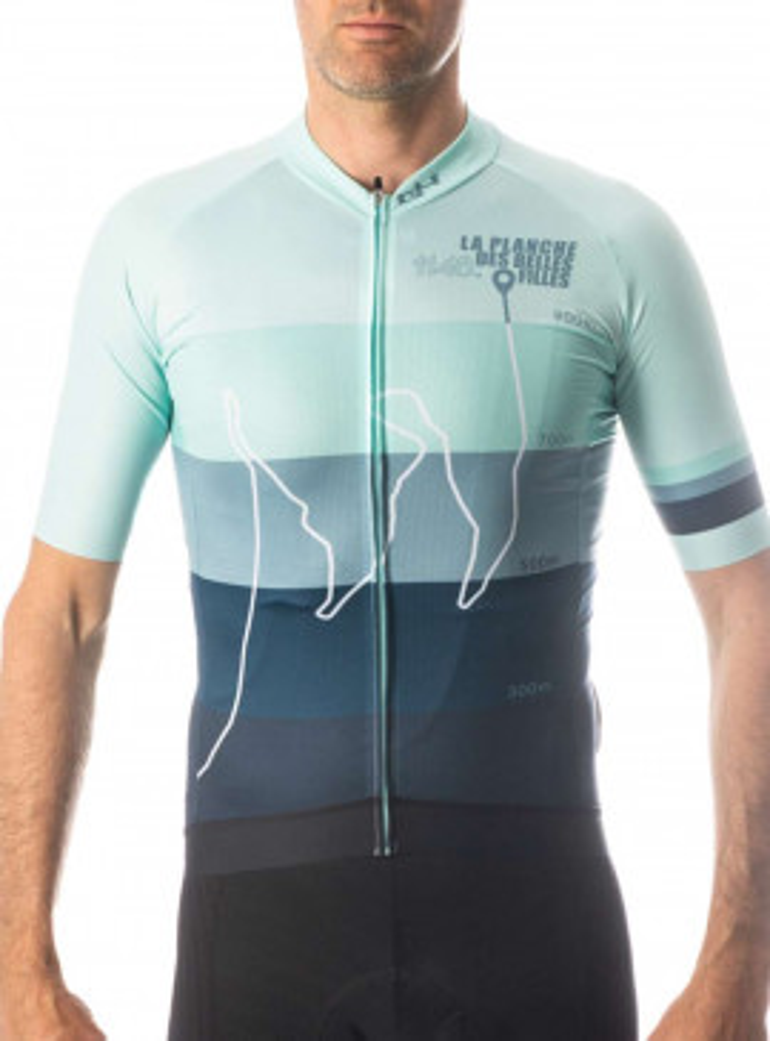 Blue cycling Jersey G4 X La planche des belles filles