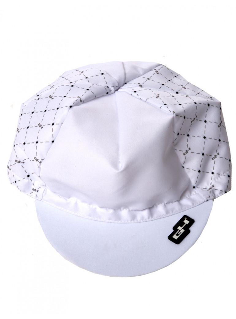 WHITE CYCLING CAP