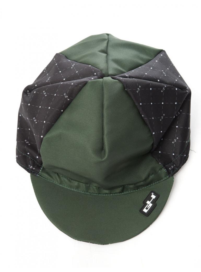 GREEN BLACK CYCLING CAP